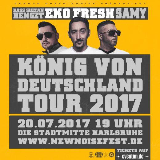 Eko Fresh Bass Sultan Hengzt Samy König von Deutschland Tour 2017 die Stadtmitte Karlsruhe New Noise Fest 20.07.2017